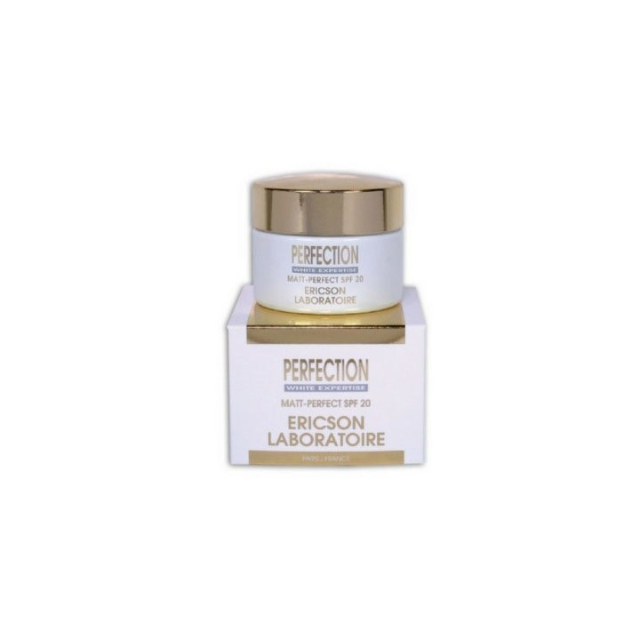 Kem trị nám, ức chế tăng sắc tố, dành cho da mặt bị xỉn màu, không bóng nhờn - Ericson Perfection Matt Perfect Cream Spf 20 50ml